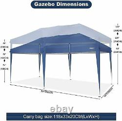 Heavy Duty Gazebo Pop-up Waterproof Marquee Canopy Garden Patio Party Tent 3x6M