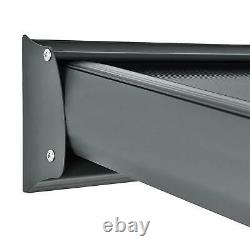 Kingston Lean-to Carport Patio Cover (Grey) 10x10, 10x14, 10x16