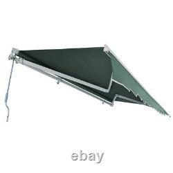L XL Retractable Canopy Awning Patio Garden Sun Shade Outdoor Green Manual