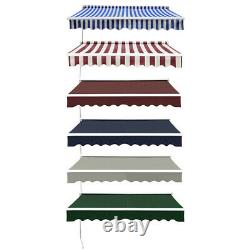 Large Patio Canopy Awning Shelter Retractable Rain Cover Outdoor SunShade Garden
