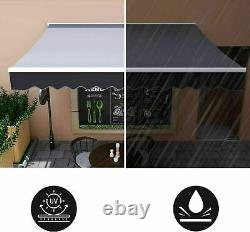 Manual Awning Canopy Garden Patio Shade Shelter Aluminium Retractable Sun Shade