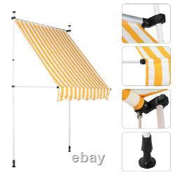 Manual Awning Canopy Outdoor Patio Garden Sun Shade Retractable Adjust Shelter