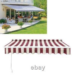 Outdoor DIY Manual Patio Awning Canopy Garden Shade Shelter Aluminiu Retractable