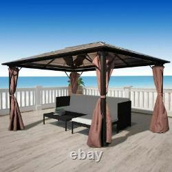 Outdoor Gazebo Luxury Garden Patio Pavilion Shelter Tent Canopy with Curtain UK