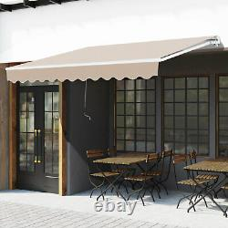 Outsunny 3 x 2m Outdoor Aluminium Frame Awning Garden Shelter Patio Canopy Beige