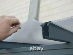 Palram rust resistant Patio Cover Grey Aluminium Porch Door Canopy Pergola DIY U
