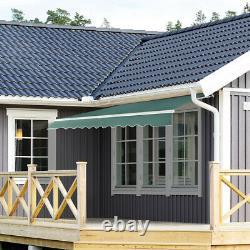 Patio Awning Canopy Garden Sun Shade Retractable Shelter Top Fabric Outdoor UK