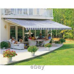 Patio Awning Manual Garden Canopy Sunshade Retractable Shelter Outdoor Sun Shade