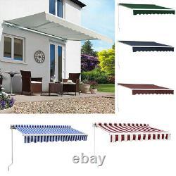 Patio Awning Retractable Manual Garden Sun Shade Canopy Shelter Outdoor Cafe NEW