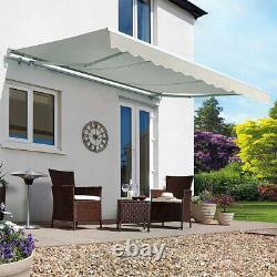 Patio Canopy Awning Shelter Retractable Porch Rain Cover Outdoor SunShade Garden