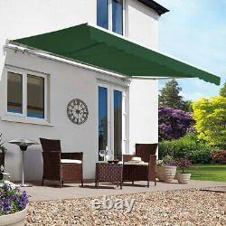 Patio Retractable Awning Manual Outdoor Garden Cafe Shop SunShade Shelter Canopy