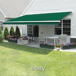 Retractable Manual Awning Canopy Outdoor Patio Garden Sun Shade Shelter 4 Sizes