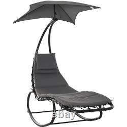 Rocking Sun Lounger Garden Swing Chair Day Bed Patio Canopy Lounge Deck Bench