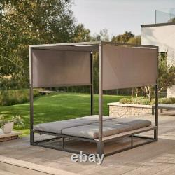 Stylish Kettler Elba Reclining Daybed With Canopy Patio Outdoor Garden Furniture