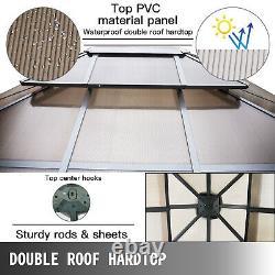 VEVOR Patio Gazebo Hardtop Gazebo with Mosquito Netting 3x3m Outdoor Gazebo Canopy