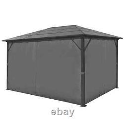 VidaXL Gazebo with Curtain Anthracite Aluminium Patio Canopy Marquee Shelter
