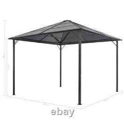VidaXL Gazebo with Roof Aluminium 3x3m Black Patio Party Tent Canopy Shelter