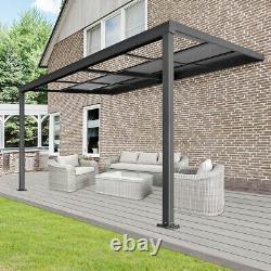 X Pergola Canopy Patio Roof Patio Aluminium Sunroof