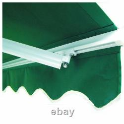 2.5 X 2m Auvent Manuel De Patio Jardin De Canopy Sun Shade Refuge Rétractable À L'extérieur
