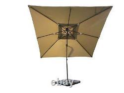 3m Banana Parasol Parasol Parapente Jardin Plage Extérieur Patio Parapluie Cantilever Canopy