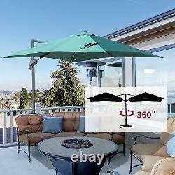 3m Banana Parasol Sun Shade Garden Outdoor Patio Parapluie Cantilever Canopy Uk
