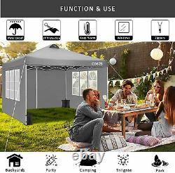 3mx3m Gazebo Marquee Forte Etanche Jardin Extérieur Patio Party Tente Canopy A