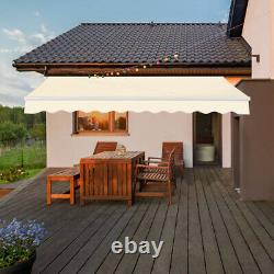 3x2.5m Auvent Manuel Canopy Garden Patio Shade Shelter Aluminium Rétractable