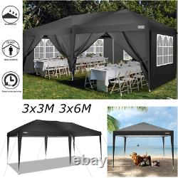 3x3m 3x6m Popup Gazebo Marquee Canopy Outdoor Garden Party Patio Wedding Tent Royaume-uni