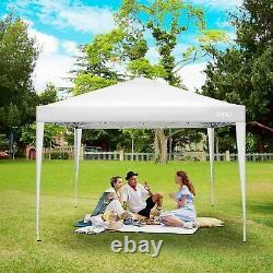 3x3m Gazebo Lourd Avec Côtés Étanche Jardin Patio Canopy Outdoor New Uk