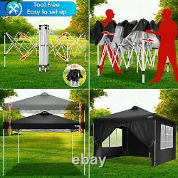 3x3m Gazebo Marquee Fort Étanche Jardin Extérieur Patio Party Tente Canopy Nouveau