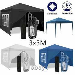 3x3m Pop Up Gazebo Canopy Marquee Forte Étanche Tente De Jardin De Patio