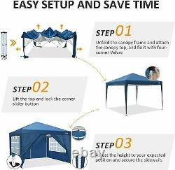 3x3m Pop Up Gazebo Marquee Canopy Waterproof Garden Patio Party Tente Withsides Uk