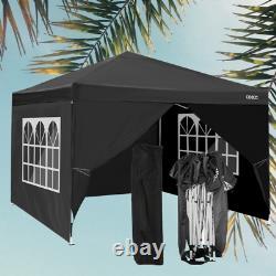 3x3m Waterproof Pop Up Gazebo Garden Fête De Mariage Patio Canopy Tente Avec 4sides Uk