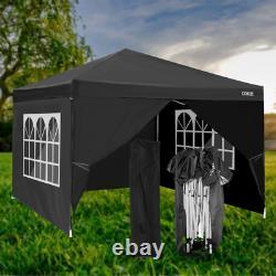 3x3m Waterproof Pop Up Gazebo Jardin Fête De Mariage Patio Canopy Tente Avec 4 Côtés