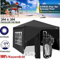 3x3m Waterproof Popup Gazebo Garden Party De Mariage Patio Canopy Tente Avec 4 Côtés Royaume-uni