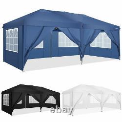 3x6m Étanche Gazebo Marquee Jardin Extérieur Patio Canopy Fête De Mariage Tente Uk