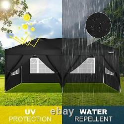 3x6m Garden Gazebo Black Party Shelter Tent, Patio Shade Outdoor Canopy Gazebo Royaume-uni