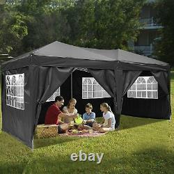 3x6m Gazebo Highe Duty Marquee Market Garden Party Patio Pop Up Tent Canopy Uk A
