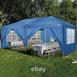 3x6m Gazebo Marquee Canopy Garden Patio Party Tente 6 Murs Amovibles