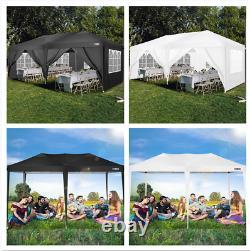 3x6m Gazebo Marquee Party Tente Avec 4 Côtés Waterproof Garden Outdoor Canopy Patio