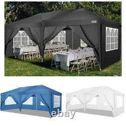 3x6m Gazebo Marquee Waterproof Outdoor Garden Patio Canopy Wedding Party Tent Uk