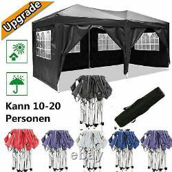 3x6m Gazebo Party Tente Marquee Waterproof Jardin Extérieur Canopy Patio Côté Vent