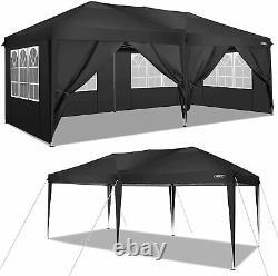 3x6m Heavy Duty Gazebo Imperméable À L'eau Pop Up Wedding Patio Party Marquee Canopy Tent
