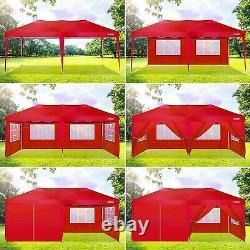 3x6m Heavy Duty Gazebo Marquee Canopy Waterproof Garden Patio Party Tente Withsides