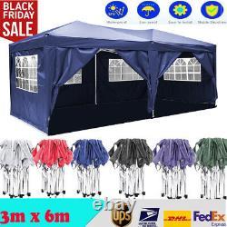 3x6m Highly Duty Gazebo Marquee Canopy Waterproof Garden Patio Party Tente Neuuk