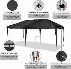 3x6m Highly Duty Gazebo Marqueen Waterproof Garden Patio Party Market Sun Canopy