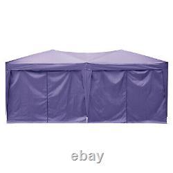 3x6m Jardin Gazebo Black Party Shelter Tente Patio Shade Outdoor Canopy Upgrade