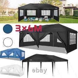 3x6m Pop Up Gazebo Heavy Duty Waterproof Marquee Tente Garden Party Patio Canopy