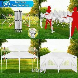 3x6m Pop Up Gazebo Marquee Party Tente Waterproof Garden Patio Shelter Canopy Uk