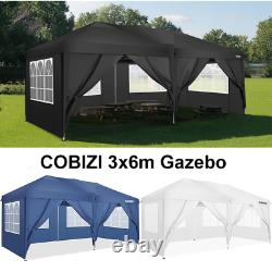 3x6m Pop Up Gazebo Waterproof Marquee Canopy Outdoor Garden Patio Party Tente Nouveau